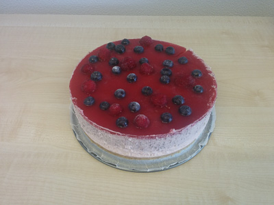 Blueberry / raspberry cheese cake