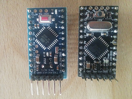 Different Arduino Pro Mini modules and pins