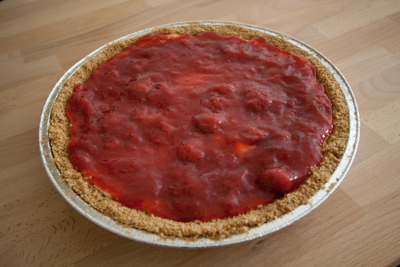 Strawberry 'vlaai' without baking