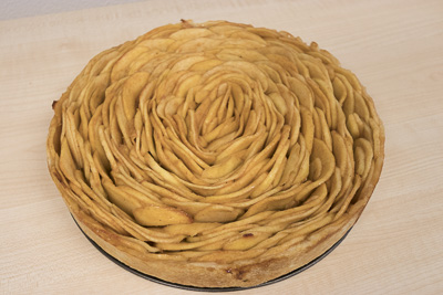 Apple cake made out of slices